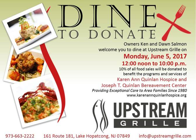 Upstream Grille - Dine to Donate